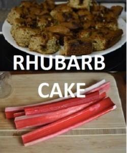 rhubarbcake